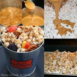 Caramel Corn Treat Bags--Step by Step Photo Instructions