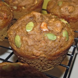 Spiced Pumpkin Molasses Muffins Recipe