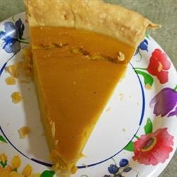 Grandma's Sweet Hubbard Squash Custard Pie Recipe