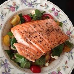 Salmon Caprese Salad