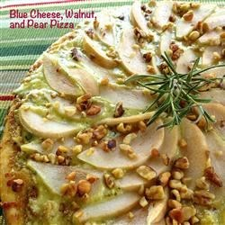 Blue Cheese, Walnut, and Pear Pizza Recipe