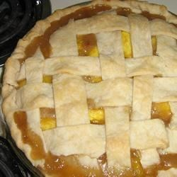 old fashioned peach pie