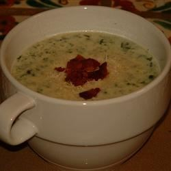 Spinach and Blue Cheese Soup Recipe