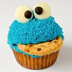 Cookie in a cup cake