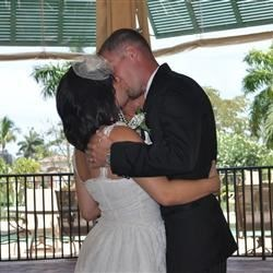 Mike and I saying I do