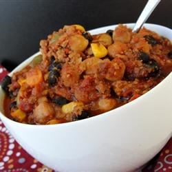 Black Bean and Chickpea Chili Recipe