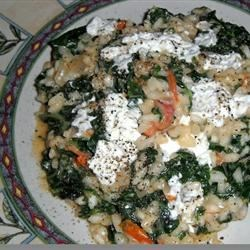 Kale and Goat Cheese Risotto