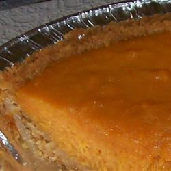 Mellina's Eggnog Sweet Potato Pie with Vanilla Wafer Crust