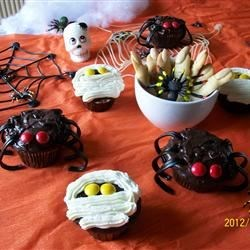 Spooky Witches Fingers, Mummy Cupcakes & Spider Cupcakes