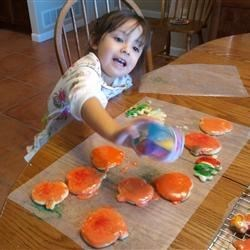 My Granddaughter decorating Sugar Cookies