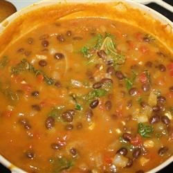 Pumpkin, Kale, and Black Bean Stew Recipe