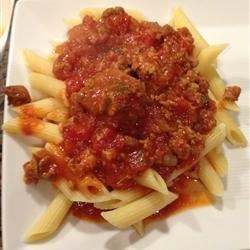 Nana's Slow Cooked Meaty Tomato Sauce Recipe