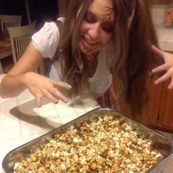 My grown up zombie about to dive into the Karo Classic Caramel Corn