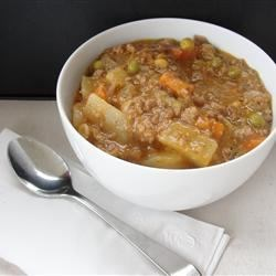Slow Cooker Ground Beef Stew Recipe