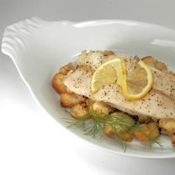 Oven Roasted Trout with Lemon Dill Stuffing Recipe