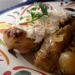 Chicken with Artichokes and Goat Cheese Recipe