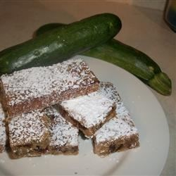 Zucchini Nut Bars Recipe