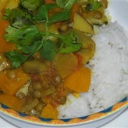 Pumpkin Curry with Lentils and Apples Recipe