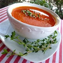 Photo of Roasted Red Bell Pepper Soup by skaught