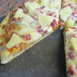 Pineapple Pancetta Pizza