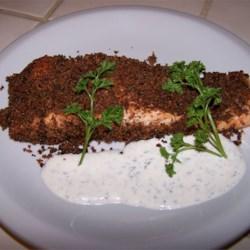 Salmon with Herb Sauce Recipe