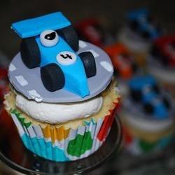 Race Car Cupcake