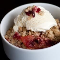 Apple Crisp with Cranberry Sauce Recipe