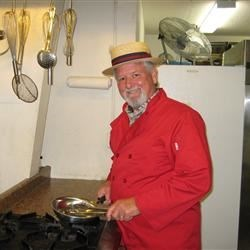 Preparing for a meal for veterans