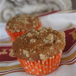 Pumpkin Muffins with Streusel Topping