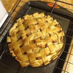 thanksgiving lattice apple pie