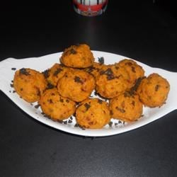 Mini Pumpkin Sage Balls with Balsamic Creme Fraiche Recipe