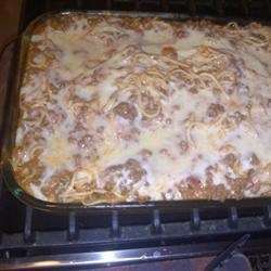The Best Spaghetti Casserole
