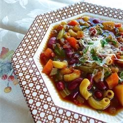 Slow Cooker Vegetarian Minestrone