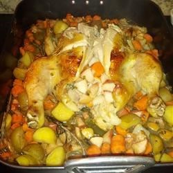 Gluten-Free Apple Roasted Chicken and Potatoes (Finished!)