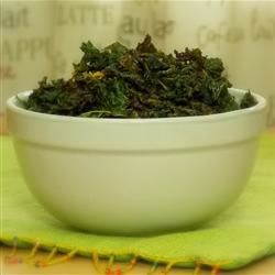 Nacho Cheese Baked Kale Chips