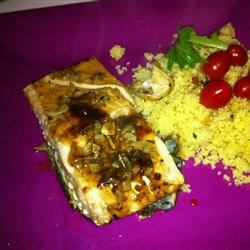 Baked salmon with cous-cous