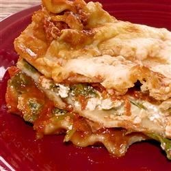 Easy Vegetarian Spinach Lasagna Recipe