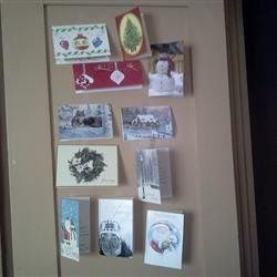 CHRISTMAS CARD DOOR!!