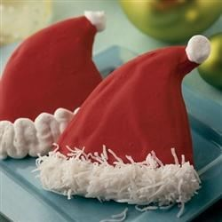 Santa Hat Cookies-Spoonful.com