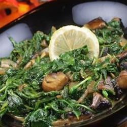 Wilted Arugula and Portobello Mushrooms Recipe
