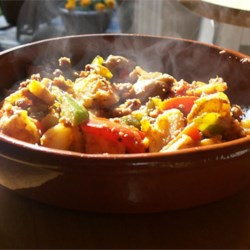 Sweet Potatoes with Sausage and Peppers Recipe