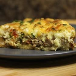 Sausage and Sun-Dried Tomato Quiche Recipe