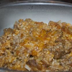 Super Easy Cheesy Hamburger Rice Casserole Recipe