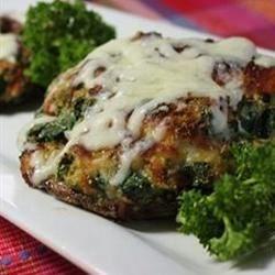 spinach stuffed portobello mushrooms photos