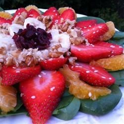 Spinach and Fruit Honey Salad Recipe