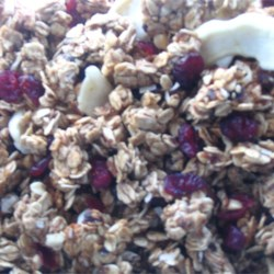 Granola with changes to the original recipe