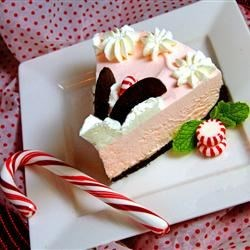 Frozen Peppermint Holiday Cheesecake