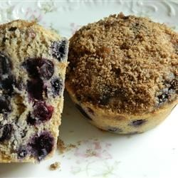 Jumbo Whole Wheat Blueberry Muffins