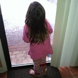 Watching the miracle snow!