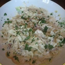 Asiago cream sauce pasta
